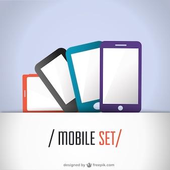 Mobiele set platte ontwerp