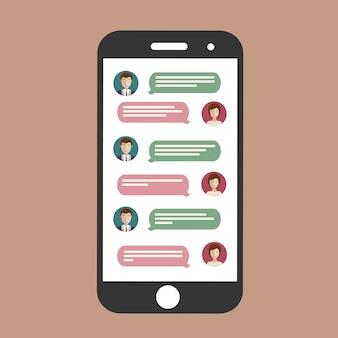 Mobiele telefoon-chat