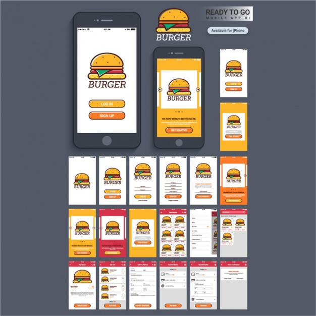 Mobile app voor een hamburger bar