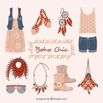Mode kleding en accessoires in boho stijl