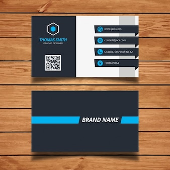 Modern adreskaartje ontwerp