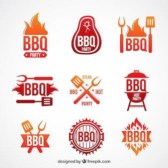 Modern barbecue labels set