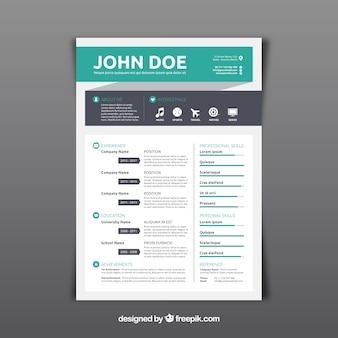 Modern CV-sjabloon