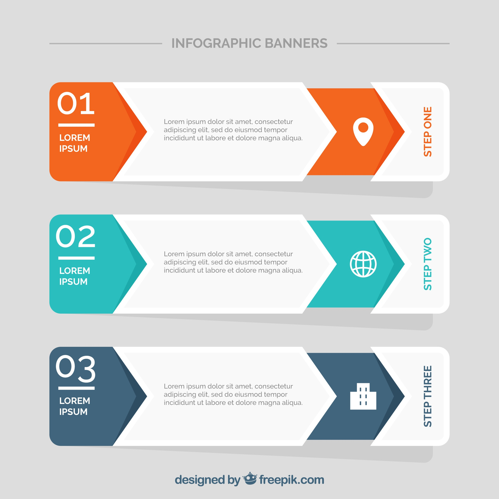Modern infographic banners