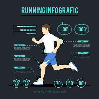 Modern infographic van lichamelijke activiteit