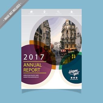 Modern jaarverslag ontwerp