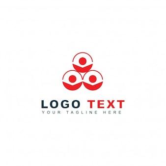 Modern logo met drie cirkelvormige vormen