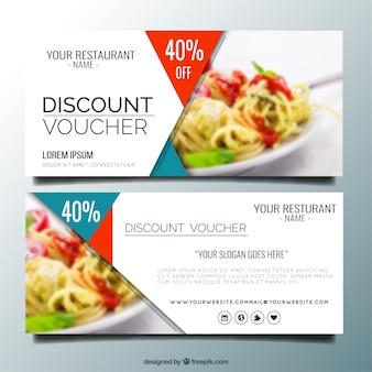 Modern restaurant discount banners