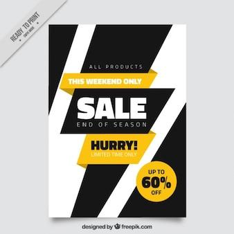 Modern verkoop brochure met een zwarte bliksem