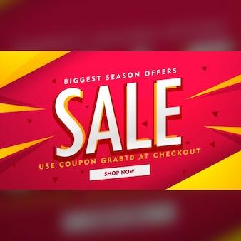 Modern verkoop en promotie banner design template