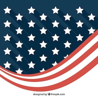 Moderne achtergrond van abstracte Amerikaanse vlag