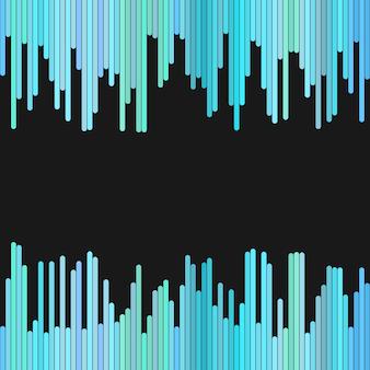 Moderne achtergrond van verticale strepen in lichtblauwe tinten - vector ontwerp op zwarte achtergrond