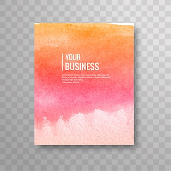 Moderne aquarel business brochure