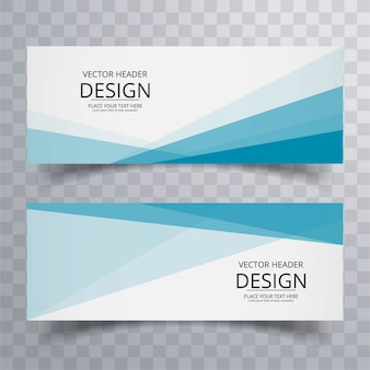Moderne banners