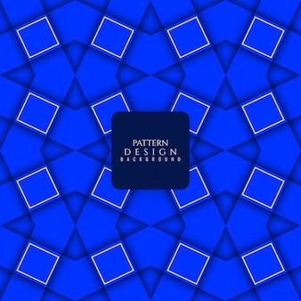 Moderne blauwe kleur naadloze patroon achtergrond
