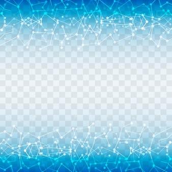 Moderne blauwe technologie achtergrond