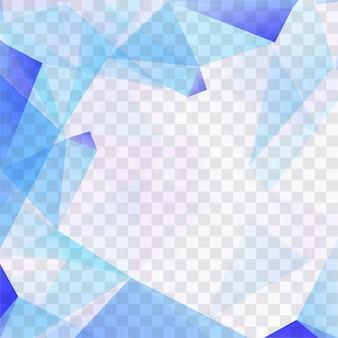 Moderne blauwe veelhoek achtergrond