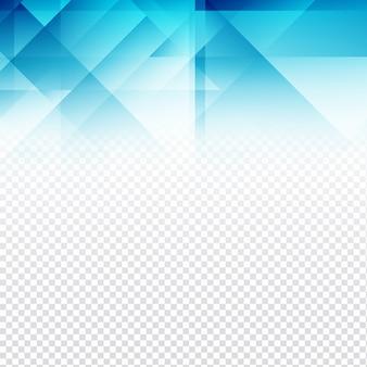 Moderne blauwe veelhoekige ontwerp op transparante achtergrond