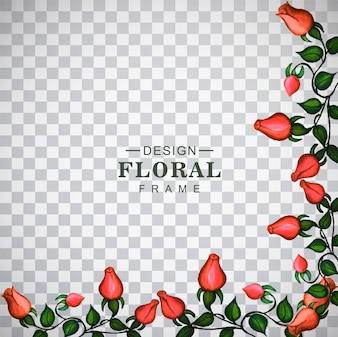 Moderne bloemenachtergrond