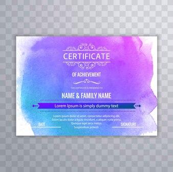 Moderne certificaat achtergrond