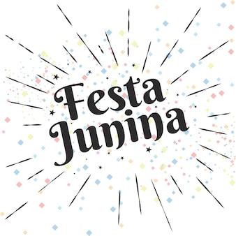 Moderne Festa Junina achtergrond