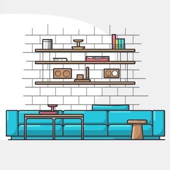 Moderne gezellige woonkamer