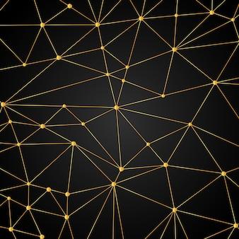 Moderne gouden technologische achtergrond