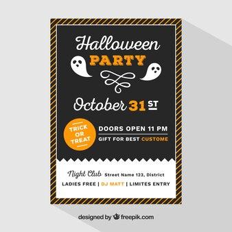 Moderne halloween poster met spoken