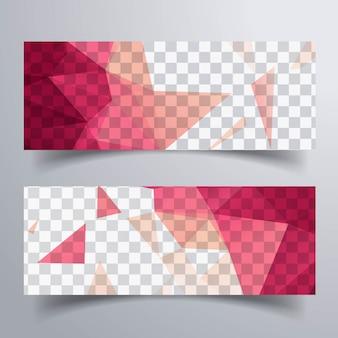 Moderne heldere banners