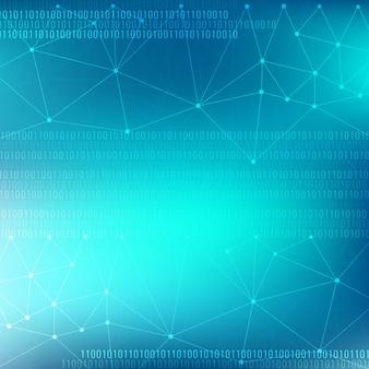 Moderne heldere blauwe technologie thema achtergrond