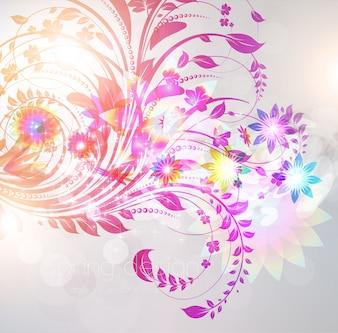 Moderne kleur grafische achtergrond lente