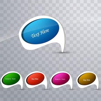 Moderne kleurrijke iconen