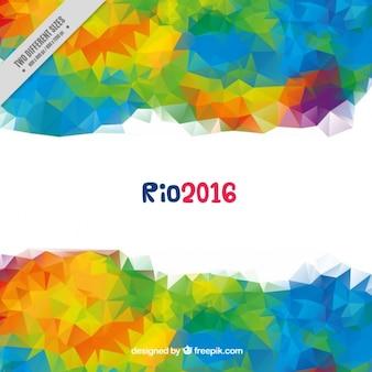Moderne kleurrijke veelhoekige achtergrond van de olympische spelen