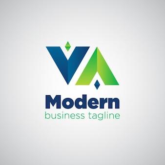 Moderne logo omgekeerd