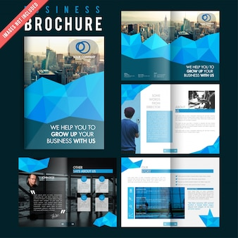 Moderne magazine sjabloon lay-out advertentie