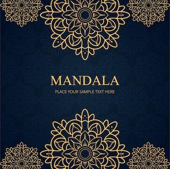Moderne mandala achtergrond