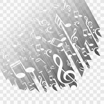Moderne muziek achtergrond