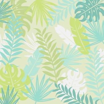 Moderne tropische achtergrond voor uw ontwerp, vectorillustratie.
