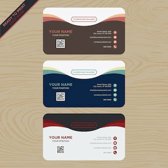 Moderne visitekaartje collectie