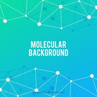 Molecule achtergrond met kleurrijke stijl