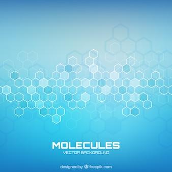 Molecules achtergrond met geometrische stijl