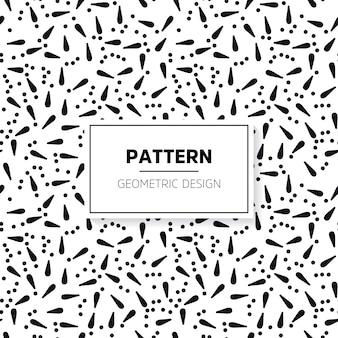 Monochroom abstract gestreepte textuur Naadloze patroon voor achtergrond Hand tekenen