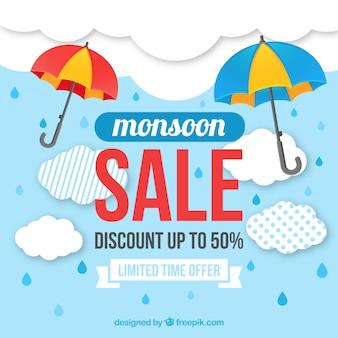 Monsoon verkoop achtergrond