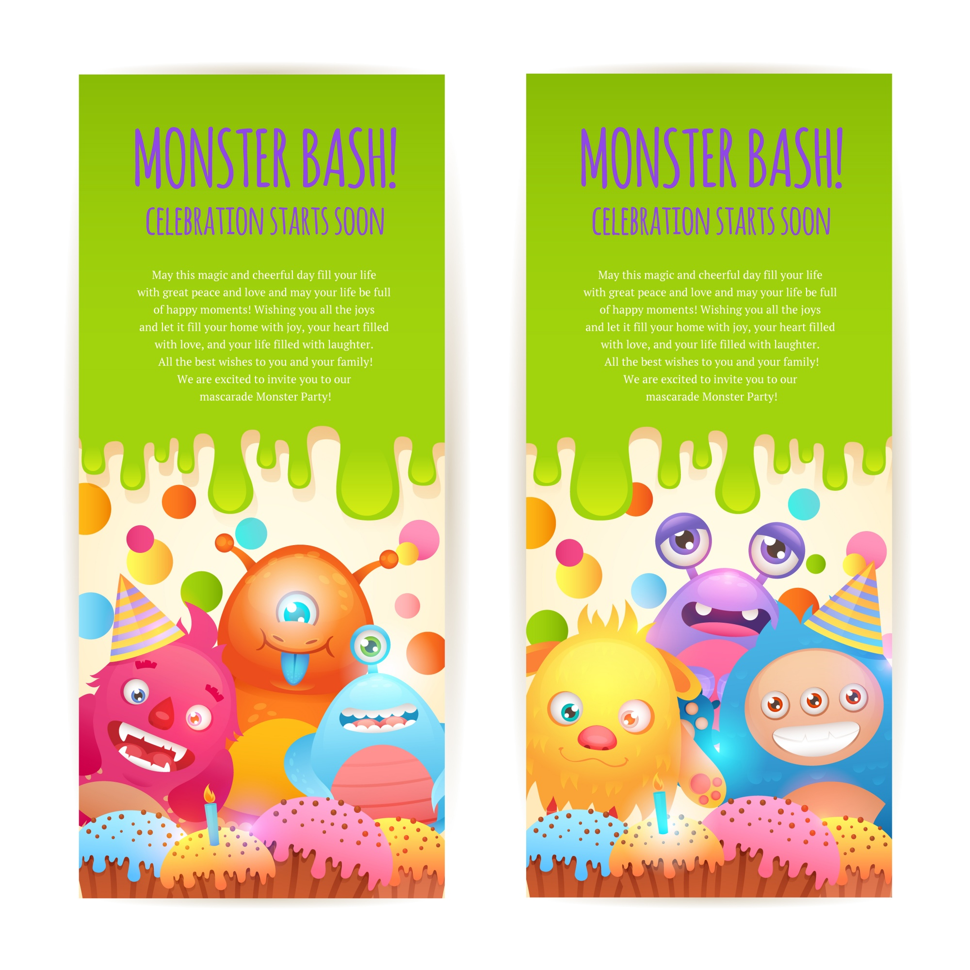 Monsters verticale banners