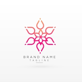 Mooi bloem logo concept ontwerp