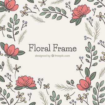 Mooi bloemenframe ontwerp
