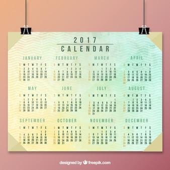 Mooie abstracte kalender 2017 in vintage stijl