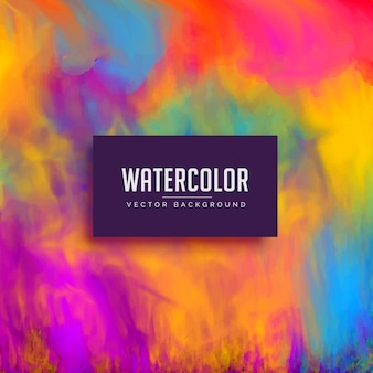 Mooie aquarel achtergrond met vloeiend inkt effect