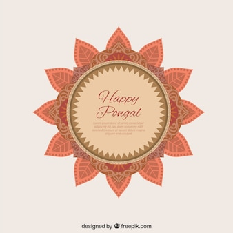 Mooie badge Gelukkig Pongal