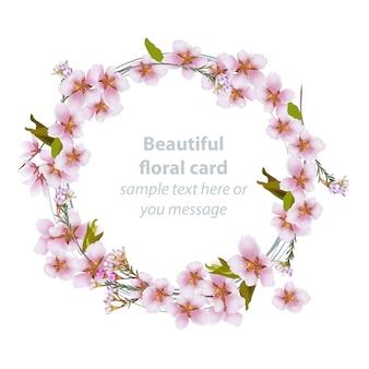 Mooie bloemenkaart